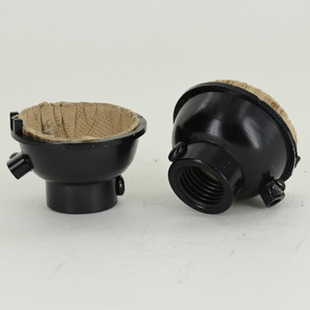 Black Finish 1/4ips. Female Cap with Ground Terminal For Use with Cast Turned Sockets.