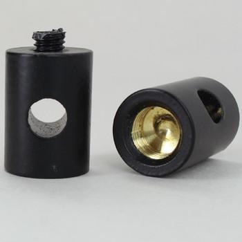 1/8ips Female Swag Light Cord Bushing for SVT Type Wire - Black Finish over Brass