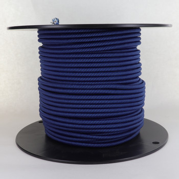 18/2 SVT-B BLACK/BLUE SWIRL PATTERN NYLON FABRIC CLOTH COVERED PENDANT AND TABLE LAMP WIRE