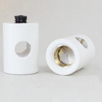 1/8ips Female Swag Light Cord Bushing for SVT Type Wire - White Finish over Brass