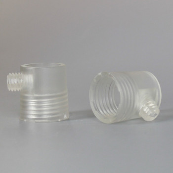 1/4ips Female Clear Plastic Strain Relief with Set Screw.