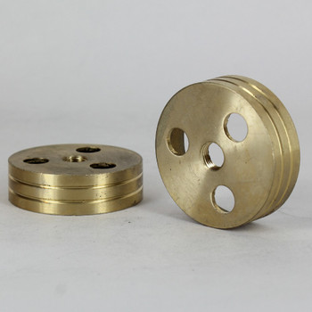 3 Light - 2in Diameter Cast Unfinished Brass Body