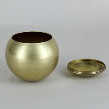 2-1/2in Diameter Unfinished Brass Eyeball Body Ball with Cover