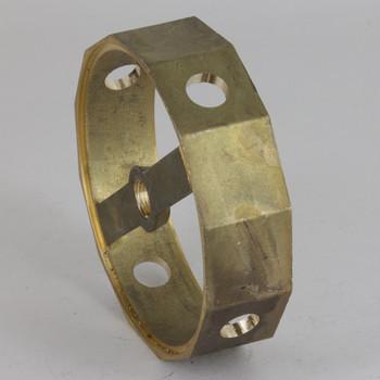 4 Side Holes - Dodecagonal Cast Brass Body - 3-1/2in(88mm) Diameter