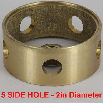2in (50mm) Diameter with 5 Side Holes Cast Brass Body Ring