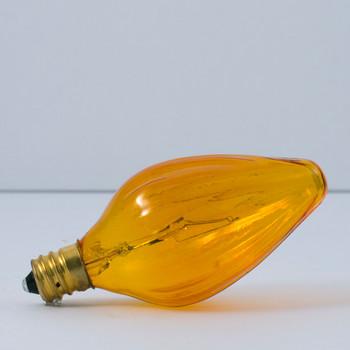 25W Amber E-12 Base Flame Bulb