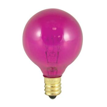 10W Pink E-12 Base 1-1/2in. Globe Bulb