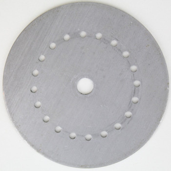 20Arm - 4in Diameter Distributor Plate Washer with 1/8ips Slip (7/16in) Center Hole