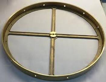 20in (510mm) Diameter, 12 Side Hole Cast Brass Body Ring