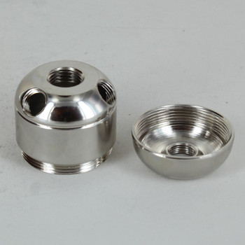 3 X 1/8ips. Side Holes - 45-Degree - 1/4ips Bottom - Large Cluster Body - Nickel Plated