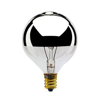 25W Silver Crown E-12 Base 2-1/8in. Globe Bulb