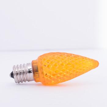 C9 LED 0.6W ORANGE E17 120V bright LED bulb