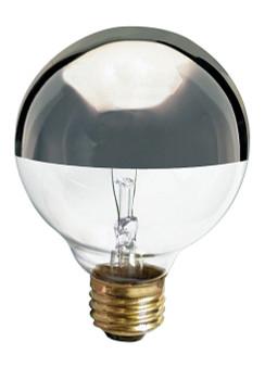 25W Silver Crown E-26 Base G25 Globe Bulb