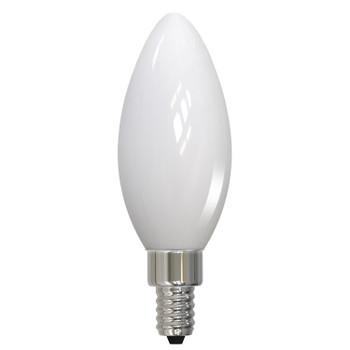 3.6W LED E12 Base B11 2700K Filament Bulb - Milky Finish