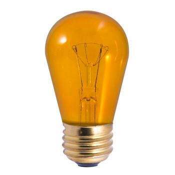 11W Amber Indicator E-26 Base S14 Style Bulb