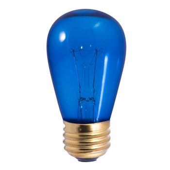 11W Blue Indicator E-26 Base S14 Style Bulb