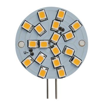 2.8W WAFER 12V 2-Pin G4 Sub-Miniature Base Clear Finish 2700K Specialty LED Miniature Light Bulb