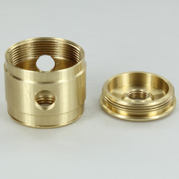 2 X 1/8ips Side Holes - 1/4ips bottom - Colonial Style Cluster Body - Unfinished Brass