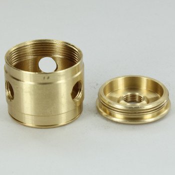 3 X 1/8ips Side Holes - 1/4ips. Bottom - Colonial Style Cluster Body - Unfinished Brass