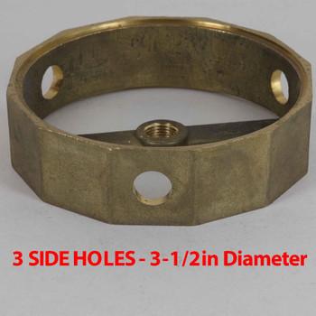 3 Side Holes - Dodecagonal Cast Brass Body - 3-1/2in (88mm) Diameter