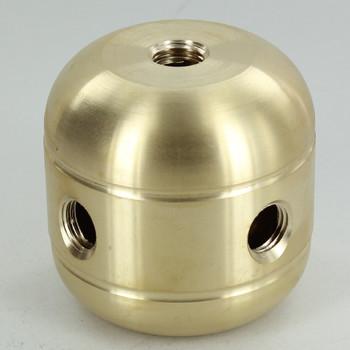 4 X 1/4ips. Side Holes - 1/4ips Bottom - Jumbo Cluster Body - Unfinished Brass