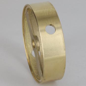 2 Side Holes - Cast Brass Ring Body - 3-1/4in (82mm) Diameter