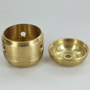 3 X 1/8ips. Side Holes - 1/4ips Bottom - Jumbo Cluster Body - Unfinished Brass