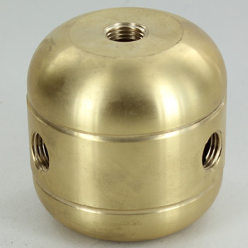 3 X 1/4ips. Side Holes - 1/4ips Bottom - Jumbo Cluster Body - Unfinished Brass