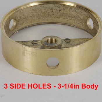 3 Side Holes - Cast Brass Ring Body - 3-1/4in (82mm) Diameter
