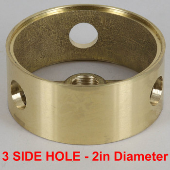 2in (50mm) Diameter with 3 Side Holes Cast Brass Body Ring