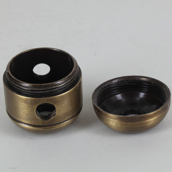 2 X 1/8ips. Side Holes - 1/4ips Bottom - Large Cluster Body - Antique Brass