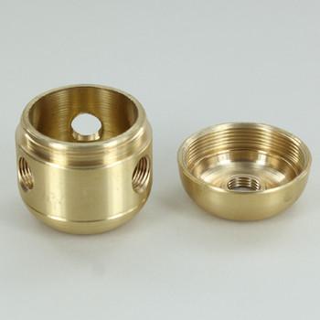 3 X 1/8ips. Side Holes - 1/8ips Bottom - Large Cluster Body - Unfinished Brass