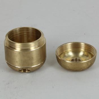 2 X 1/8ips. Side Holes - 45-Degree - 1/4ips Bottom -  Large Cluster Body - Unfinished Brass