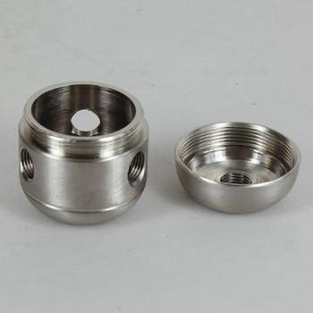 3 X 1/8ips. Side Holes - 1/4ips Bottom - Large Cluster Body - Brushed / Satin Nickel Finish