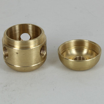 3 X 1/8ips. Sides Holes - 1/4ips Bottom - Large Cluster Body - Unfinished Brass