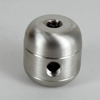 2 X 1/8ips. Side Holes - 1/4ips Bottom - Large Cluster Body - Brushed / Satin Nickel Finish