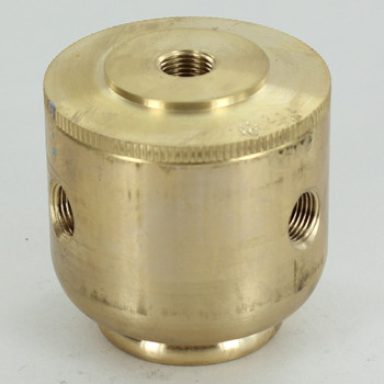 3 X 1/8ips. Side Holes - 1/4ips Bottom - Large Colonial Cluster Body - Unfinished Brass