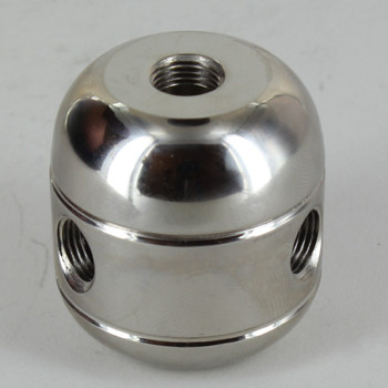 3 X 1/8ips. Side Holes - 1/4ips Bottom -  Large Cluster Body - Nickel Plated
