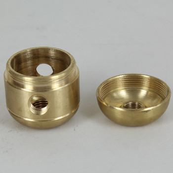 2 X 1/8ips. Side Holes - 1/4ips Bottom - Large Cluster Body - Unfinished Brass