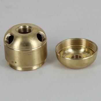 3 X 1/8ips. Side Holes - 45-Degree -  1/4ips Bottom - Large Cluster Body - Unfinished Brass