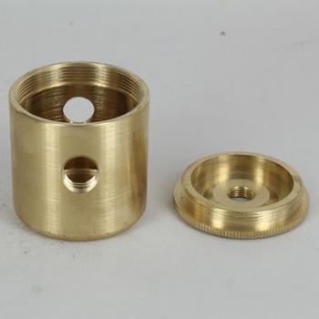 2 X 1/4ips. Side Holes - 1/4ips Bottom - Large Modern Cluster Body - Unfinished Brass