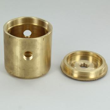 2 X 1/8ips. Side Holes - 1/4ips Bottom - Large Modern Cluster Body - Unfinished Brass