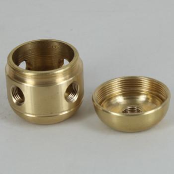 4 X 1/8ips. Side Holes - 1/8ips Bottom -  Large Cluster Body - Unfinished Brass