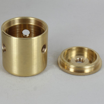 3 X 1/8ips. Side Holes - 1/4ips Bottom - Large Modern Cluster Body - Unfinished Brass