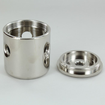 3 X 1/4ips. Side Holes - 1/4ips Bottom - Large Modern Cluster Body - Nickel Plated