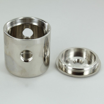 2 X 1/4ips. Side Holes - 1/4ips Bottom - Large Modern Cluster Body - Nickel Plated