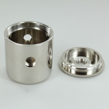 2 X 1/8ips. Side Holes - 1/4ips Bottom - Large Modern Cluster Body - Nickel Plated