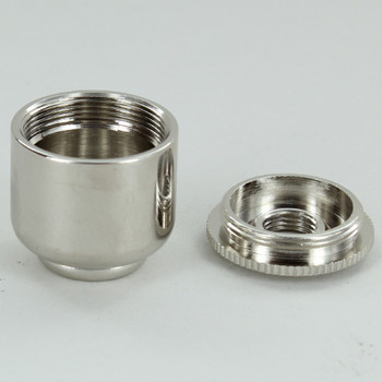 No Side Hole - 1/8ips Bottom - Small Cluster Body - Nickel Plated