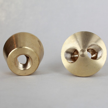 1/4ips Female Threaded Unfinished Brass Y Cluster Angle Body