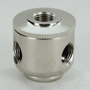 3 X 1/8ips. Side Holes - 1/8ips Bottom - Small Cluster Body - Nickel Plated
